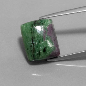 Multicolor Ruby-Zoisite Gem - 10.1ct Baguette Cabochon (ID: 360791)