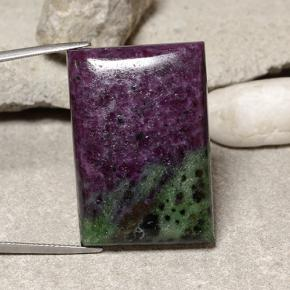 Multicolor Ruby-Zoisite Gem - 68.5ct Baguette Cabochon (ID: 484089)