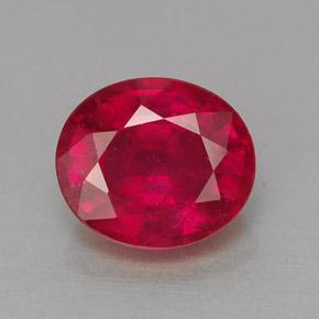 1 6 Carat Oval 7 5x6 4 Mm Ruby Gemstone