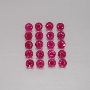 Ruby 1 8 Carat 20 Pcs Round From Myanmar Burma Gemstones
