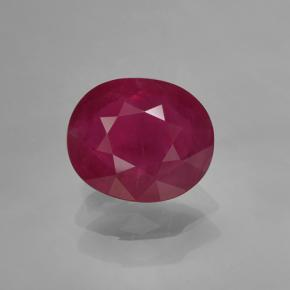 Pink Red Ruby Gem - 1.6ct Oval Facet (ID: 379604)