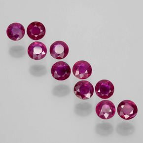 0.2ct Round Facet Pink Red Ruby Gem (ID: 399405)
