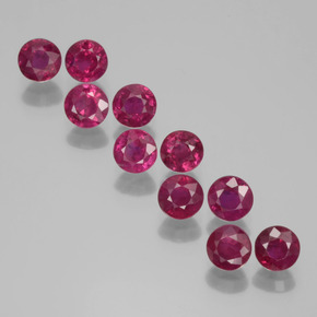 0.3ct Round Facet Pink Red Ruby Gem (ID: 399439)