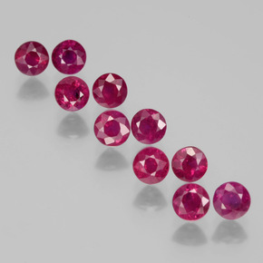 0.3ct Round Facet Pink Red Ruby Gem (ID: 399503)