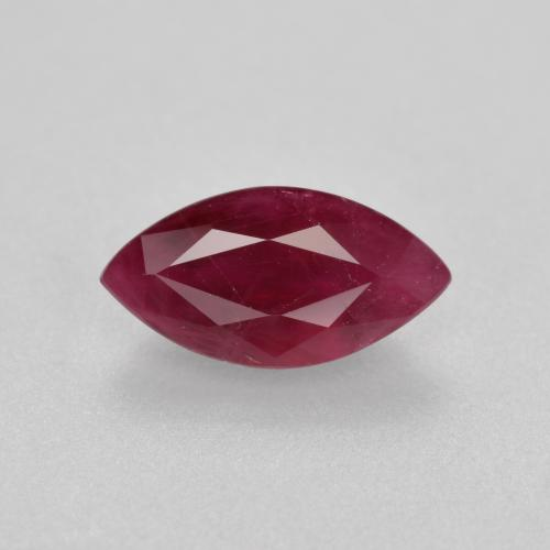 Wine Red Ruby Gem - 1ct Marquise Facet (ID: 402465)