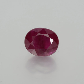 1.51 ct Oval Facet Pink Red Ruby Gemstone 6.76 mm x 5.6 mm (Product ID: 402652)