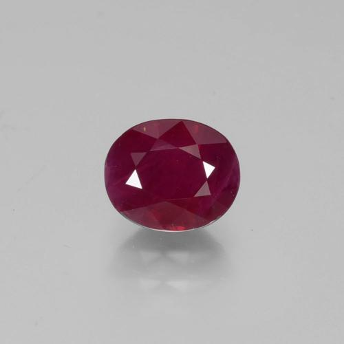 1.2ct Oval Facet Wine Red Ruby Gem (ID: 402657)