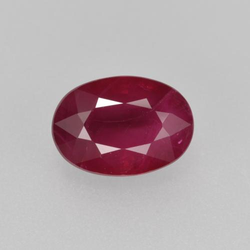 Pink Red Ruby Gem - 1.1ct Oval Facet (ID: 402659)