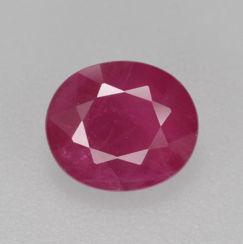 Pink Red Ruby Gem - 1.4ct Oval Facet (ID: 405764)