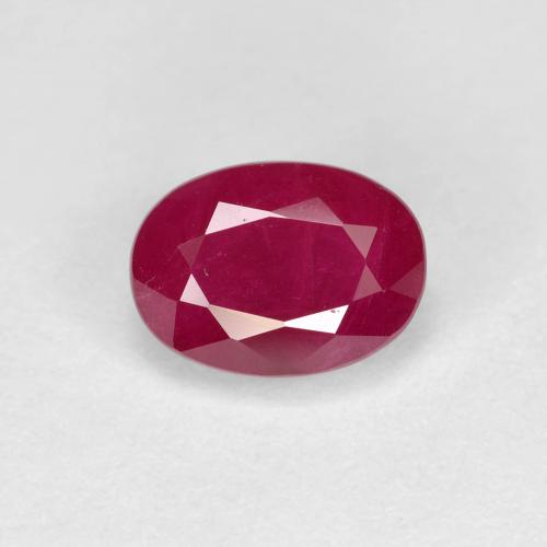 Pink Red Ruby Gem - 1.3ct Oval Facet (ID: 405767)
