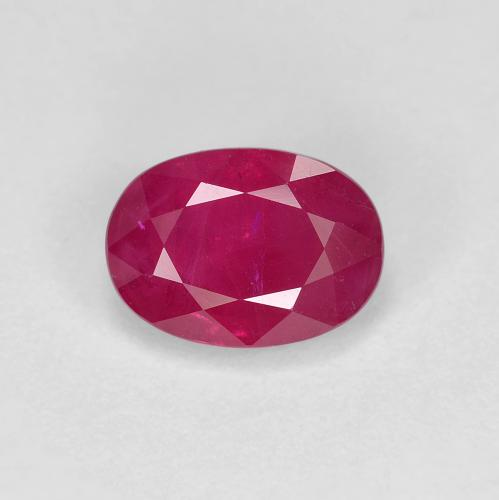 Pink Red Ruby Gem - 1.2ct Oval Facet (ID: 405768)