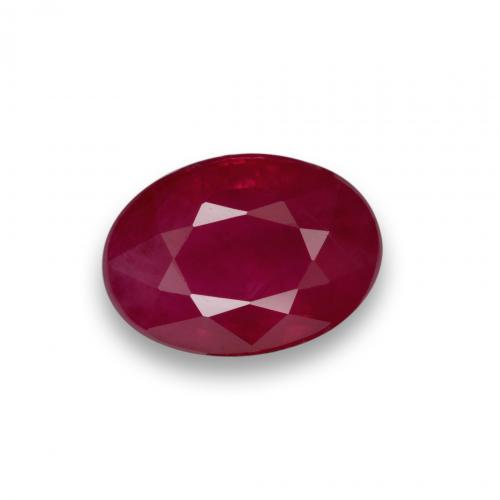 Pink Red Ruby Gem - 1.2ct Oval Facet (ID: 405773)