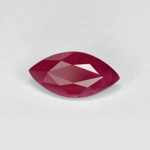 Pink Red Ruby Gem - 1.3ct Marquise Facet (ID: 405885)