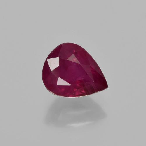 Pink Red Ruby Gem - 1.3ct Pear Facet (ID: 405892)