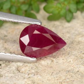 1.2ct Pear Facet Pink Red Ruby Gem (ID: 405893)