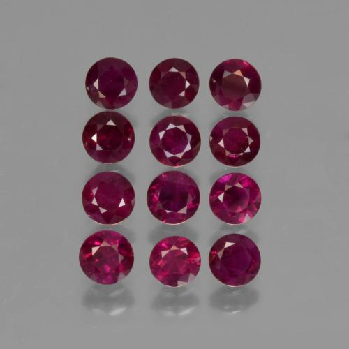 Currant Red Rubino Gem - 0.2ct Taglio brillante (ID: 422333)