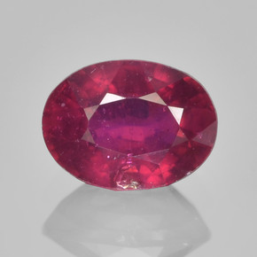 Currant Red Rubí Gema - 1.3ct Forma ovalada (ID: 462824)