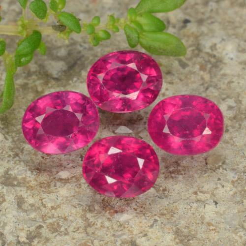 Pink Red Ruby Gem - 0.7ct Oval Facet (ID: 464528)