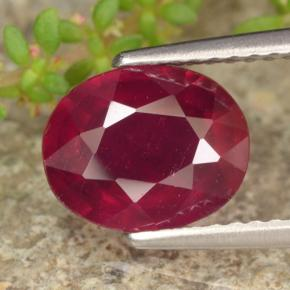 thumb image of 2.6ct Oval Facet Red Ruby (ID: 464799)