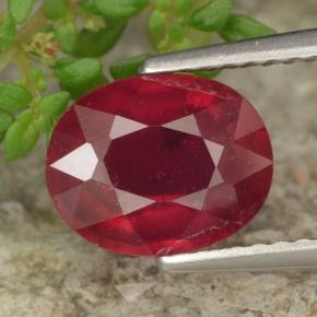 2.51 ct Oval Facet Red Ruby Gemstone 8.80 mm x 7 mm (Product ID: 464882)