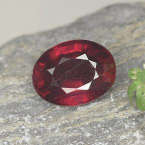 thumb image of 1.7ct Oval Facet Red Ruby (ID: 465474)