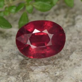 2ct Oval Facet Red Ruby Gem (ID: 465562)