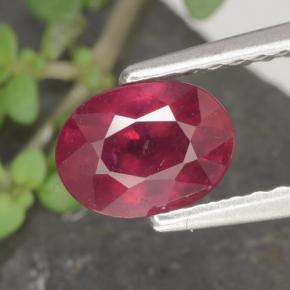 1.2ct Oval Facet Red Ruby Gem (ID: 466558)