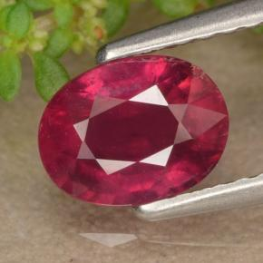 1.3ct Oval Facet Red Ruby Gem (ID: 466575)