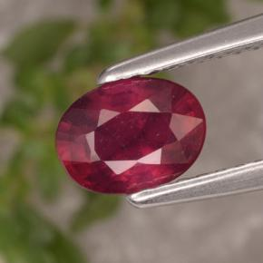 1.1ct Oval Facet Red Ruby Gem (ID: 466639)