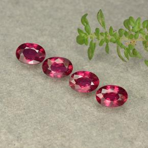 Pink Red Ruby Gem - 0.7ct Oval Facet (ID: 481709)