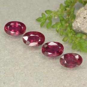 Pink Red Ruby Gem - 0.9ct Oval Facet (ID: 481941)