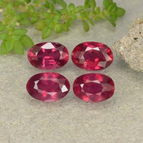 Pink Red Ruby Gem - 0.7ct Oval Facet (ID: 481945)