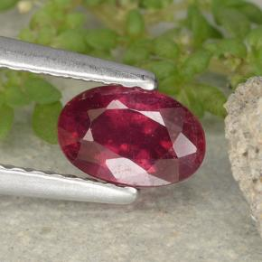 thumb image of 0.9ct Oval Facet Pink Red Ruby (ID: 481979)