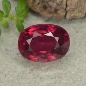 Wine Red Ruby Gem - 2.2ct Oval Facet (ID: 482892)