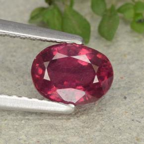 1.2ct Oval Facet Pink Red Ruby Gem (ID: 483112)