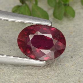 Pink Red Ruby Gem - 1.4ct Oval Facet (ID: 483117)