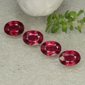 1.3ct Oval Facet Pink Red Ruby Gem (ID: 483133)