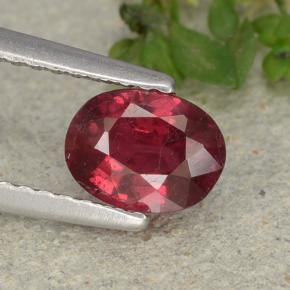 1.1ct Oval Facet Pink Red Ruby Gem (ID: 483144)