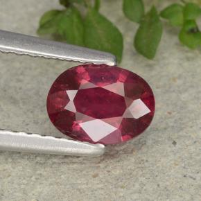 thumb image of 0.9ct Oval Facet Pink Red Ruby (ID: 483147)