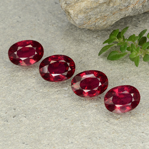 Pink Red Ruby Gem - 1.3ct Oval Facet (ID: 483156)