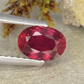 thumb image of 1.1ct Oval Facet Pink Red Ruby (ID: 483237)