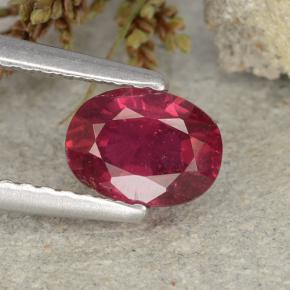 thumb image of 0.9ct Oval Facet Pink Red Ruby (ID: 483242)