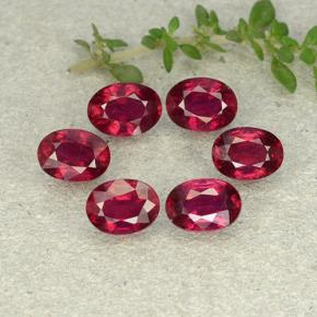 1.1ct Oval Facet Pink Red Ruby Gem (ID: 483246)