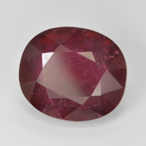 Pinkish Red Ruby Gem - 17.1ct Oval Facet (ID: 494685)