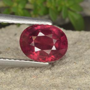 thumb image of 1.9ct Oval Facet Pinkish Red Ruby (ID: 494731)