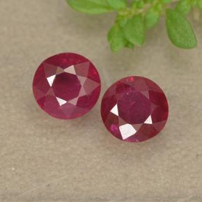Jam Red Ruby Gem - 0.4ct Round Facet (ID: 494951)