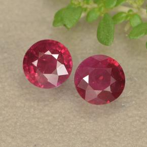 thumb image of 0.7ct Round Facet Pinkish Red Ruby (ID: 494953)