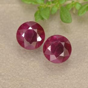 thumb image of 1ct Round Facet Pinkish Red Ruby (ID: 494956)