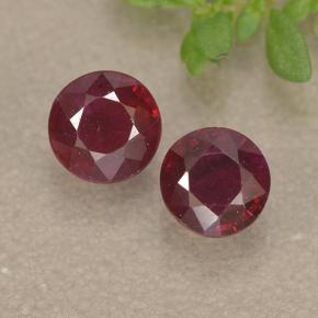 0.5ct Round Facet Pinkish Red Ruby Gem (ID: 494957)