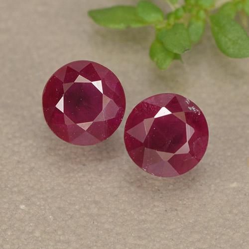 thumb image of 0.6ct Round Facet Pinkish Red Ruby (ID: 494958)
